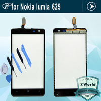 Original replacement touch screen For Nokia Lumia 625 touch digitizer lcd screen glass with flex cable + tools