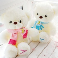 Niuniu Daddy   Birthday Valentines Gift Scarf Baby Bear Wedding Plush Toy High Quality  Bear Doll  2 Colors Size 30cm