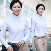 White Long Sleeve Shirt Women Clothing New Women's Blouse Lace Big Size Casual Shirt Fashionable Tops Lace Free Shipping