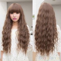 Long Curly wig Love Sexy Full Lace Cute Girls' Long Curly Wavy Hair Full Wigs Cosplay Party 24 Hours Shipping
