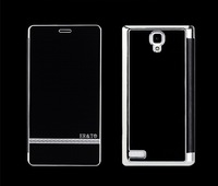 Ultra-Thin Metal  Leather  Case For XIAOMI Hongmi Red Rice/Redmi Note Luxury Flip Cover Mobile Phone bag