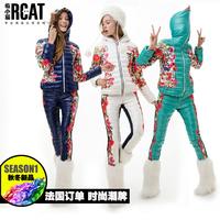 For cl j 2013 print design short down coat set female