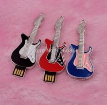 Metal Guitar USB Flash Drive USB Flash Disk Gift Memory Pen Drive 2GB 4GB 8GB 16GB 32GB 64GB USB2.0(China (Mainland))