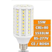 2pcs/lot e27 led bulb lighting 15w 5730SMD 60pcs 1350lumens LED Corn bulb Light white/Warm White 220V led corn bulb lamp e27