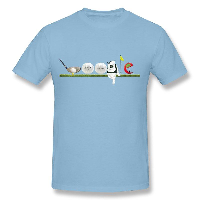 Gildan T Shirt Man Google Doodle Golf Cody Logo Cute Logos T Shirts Men free shipping 100% cotton (China (Mainland))