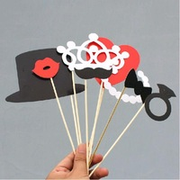 2014 New Arrival Vintage Photo Props Stick Mustache Photo Booth Props Wedding Party Fun