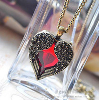 New Fashion costume jewellery women nero pendant necklace long chain wholesale mix color collier Angel