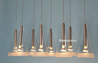 2014 the newest  Fashion  lamp clear  8 lights   Fucsia  glass pendant lamp aslo for wholesale