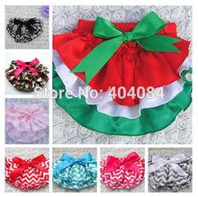 Newest Children Ruffle Underwear wave Striped Prettiskirt Chiffon TUTU style Panties the shorts 3pcs/lot 8types pick(China (Mainland))