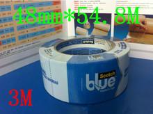 5pcs 48mm*54.8M Blue Heat Resistant Tape For 3D Printer Platform Makerbot Reprap Freeshipping