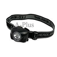 3W LED + 1 Red LED Mini Headlamp Headlight Head Light Torch Flashlight Black TK0226