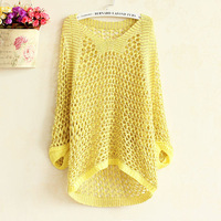 Gold Line long-sleeved sweaters 2014 women fashion summer dress big size pullover women sweater Korean style sweater Blouse