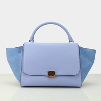 2014 New Arrival Famous Brand Handbag RealSkin Bag Genuine Leather Top Quality  Blue Color Shoulder 3 Colors 432