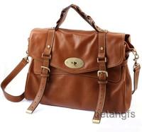 Clearance Sale Fashion New 2014 Women Genuine Leather Handbag Shoulder bag Women Leather Messenger Bag Tote Satchel Bag Brown