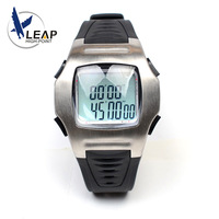LEAP Football Soccer Referee Timer Sports Game Coach Wrist Watch Stop Count Down Metal Stainless Steel Black Rubber Band Game