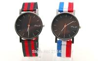 new design high quality nylon knitting colored band fashion watch,Precise quartz movement,10colors choice,28pcs/lot freeshipping