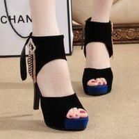 Fashion open toe shoe women's sandals high-heeled shoes sexy platform thin heels