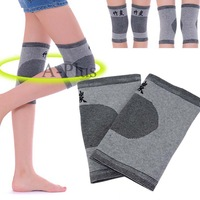 New 1 Pair Knee Wrap Support Elastic Brace Patella Bamboo Charcoal Sport Pad Thick Band Knee Pad #11 SV001754