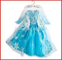 summer dress 2014 girl party dress anna princess costume baby girls elsa dress tutu pink new frozen dress 3-8T 10pc/lot melee