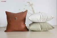 New Arrive  Retro Butter cushion cover Square  Medium decoration Linen Pillowcases Decoration Back cushion Cover 45CM beige