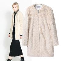 Fall Winter Warm Luxury Overcoats Ladies Long Style Imitation Rabbite Fur Outerwear New Jacket Women's Fur Coat Plus Size A885