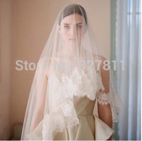 The new Korean style restoring ancient ways bride wedding veil High-end luxury car eyelashes bone width lace veil