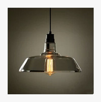Designer Lights American Country Industrial Warehouse Personality Simple Meals Pendant Glass Pendant Light