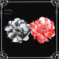 Free shipping!36PCS/LOT  6CM New stripe  flowers silk flower fabric flowers
