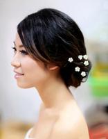 Free shipping 30 Piece Wedding Bridal Lady Crystal Rhinestone Pearl Flower Hairpins Hair Pin Clips