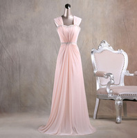 Free Shipping New Style Fashion Straps Sweetheart With Crystal Long Prom Dress