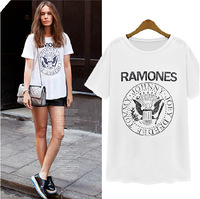 2014 summer new women's loose short-sleeved T-shirt female eagle pattern bottoming shirt round neck T-shirt