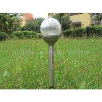 4pcs/lot Best Price Waterproof Stainless steel garden solar lights IP44 crack outdoor solar lights,free shipping &drop shipping