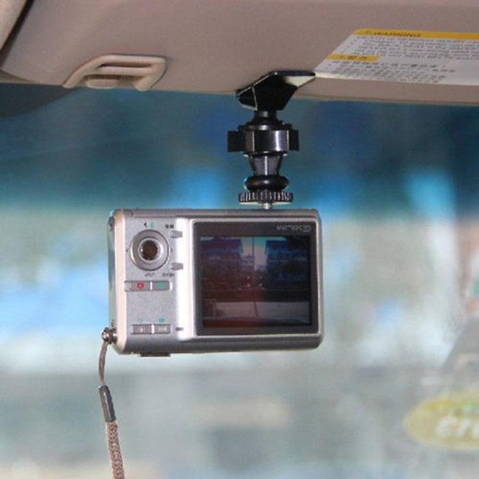 2014 New Arrival Hot Sales Car Sun Visor Clip Holder 1/4 Screw Mount for Digital Sports Camera Free Shipping&Wholesales(China (Mainland))