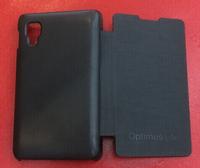 Black White Flip PU Leather Slim Battery Case Cover For LG Optimus L4 II E440