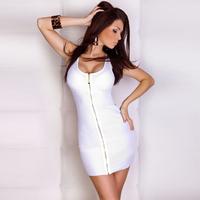 2014 New Fashion Women Sexy Solid Color Sleeveless Brief Vest Dress Mini Casual Dresses M XXL Plus Size