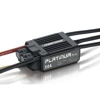 Professional Hobbywing Platinum Series 50A 2-6S High Performance ESC Platinum-50A-V3