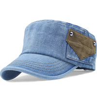 2014 Hat male  women's summer denim cadet cap  rivet outdoor sunbonnet FAMALE 'S CAP