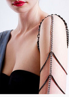 FREE SHIPPING B369 SILVER AND GRAY PLATED ARM CHAINS MULTI-LAYERS ARM CHAINS BODY JEWELRY
