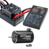 EZRUN 3656 Brushless 4000KV Motor SC-8 120A ESC & LED Program Card Combo, COMBO-SC-C2