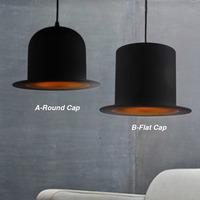 Modern art coffee bar restuant hat led pendant light lustre decorative black