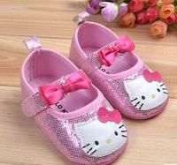 Free shipping!Pink hello kitty baby shoes soft bottom non-slip shoes princess shoes baby shoes 11-13cm