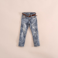 2014 New  Popular girls  jeans have age  2 - 8