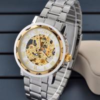 2014 new design Stainless Steel dial Band men/man Mechanical waterproof dress wrist Watch Mens Wristwatch  hot sale