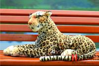 Simulation animal plush toy leopard decorations