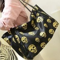 Women messenger bags large capacity human skeleton printing personality fashion leisure women handbag single shoulder bag,BAG159