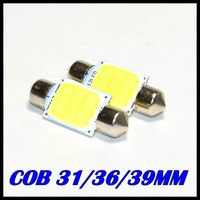 Auto super bright COB Festoon MAP/INTERIOR LIGHTS 31MM / 36MM /39MM 3W 12V Car LED lighting lamp Interior Dome Lights 10pcs/lot