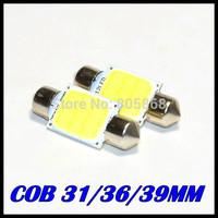 Auto super bright COB Festoon MAP/INTERIOR LIGHTS 31MM / 36MM /39MM 3W 12V Car LED lighting lamp Interior Dome Lights 10pcs/lot