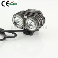 new 2xcree xml u2 2800Lm LED Head Front Bicycle Lamp Bike Light Headlamp Headlight Free shipping