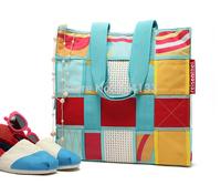 Germany reisenthel environmental Oxford waveshopper L hard wearing colorful rainbow grid shoulder bag shopping beach bag yy77
