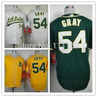 2014 New Athletics Sonny Gray  #54 Green  Alternate 1 Cool Base Baseball Jersey size:48~56+Mix Order,Free Shipping